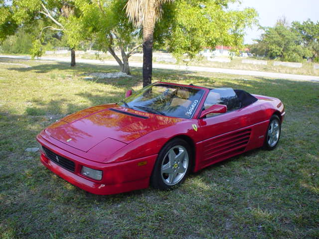 1994 FERRARI 348 SPIDER RED V8 CONVERTIBLE